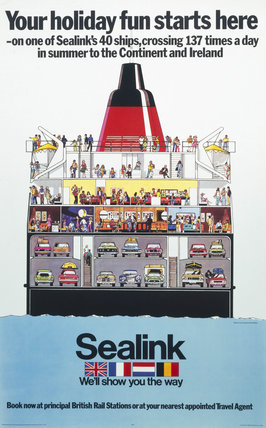 'Your holiday fun starts here - Sealink', BR poster, 1975.