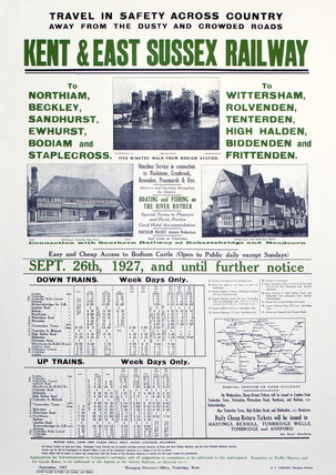 'Kent & East Susex Railway', Kent & East Susex Railway poster, 1927.