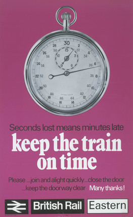 'Keep the Train on Time', BR poster, 1973.