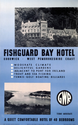 'Fishguard Bay Hotel', GWR poster, 1923-1947.