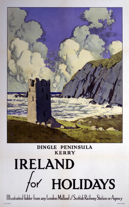 'Ireland for Holidays - Dingle Peninsula, Kerry', LMS poster, 1923-1947.