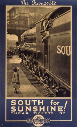 'The Favourite - South for Sunshine', SR poster, 1927.