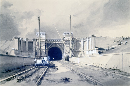 Primrose Hill Tunnel nearly completed, London, 10 October 1837.