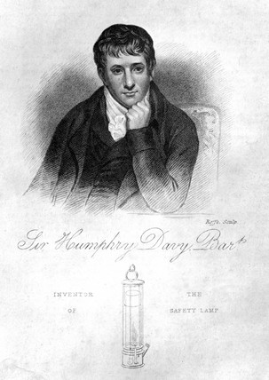 Sir Humphry Davy, English chemist, 1822.