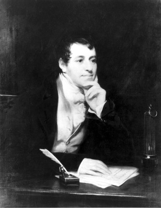 Sir Humphry Davy, English chemist, c 1810.