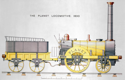 'Planet' steam locomotive and tender, 1830.