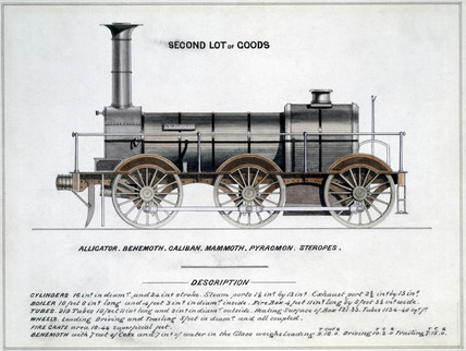 'Second Lot of Goods', steam locomotive, 1857.