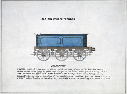 'Old Six Wheeled Tender', 1857.