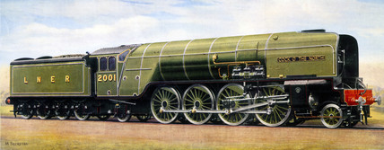 'Cock o' the North', London & North Eastern Railway locomotive, late 1930s.