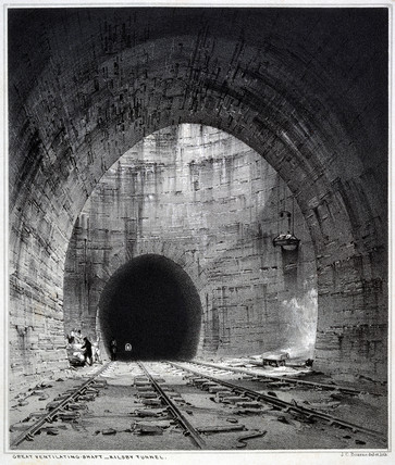 'Great Ventilating Shaft, Kilsby Tunnel', Northamptonshire,1838.