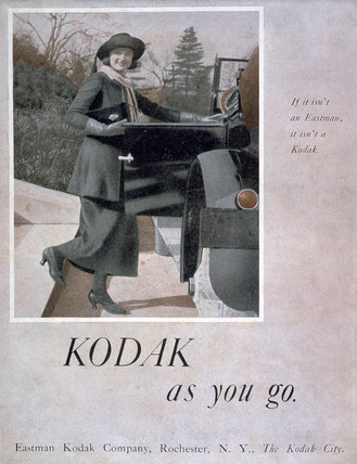 'Kodak as You Go', advertisement for Kodak  cameras, 1910s.