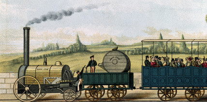 'North Star' pulling second clas carriages, 1833.