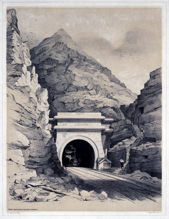West Entrance, Summit Tunnel, Manchester & Leeds Railway, 1845.