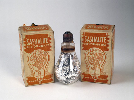 Sashalite photoflash bulbs, c 1930s.