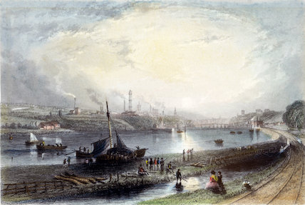 View of Newcastle-Upon-Tyne from Redheugh Station, 1838.