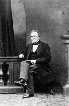 Charles Babbage, British mathematician and computing pioneer, c 1860.