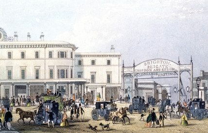 London Bridge Station, London, c 1851.