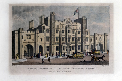 'Bristol Terminus of the Great Western Railway', c 1841.