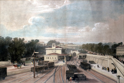 Tunbridge Wells Railway Station, Kent, c 1840s.