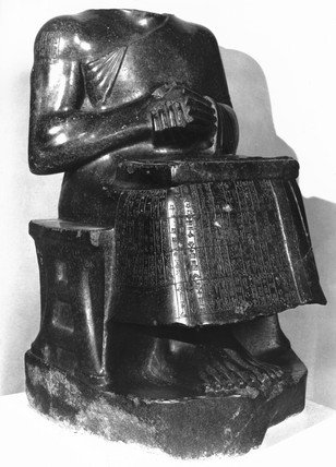 Statue of Gudea, prince of Lagash, 2125-2110 BC.