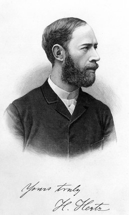 Hienrich Hertz, German physicist, 1894.