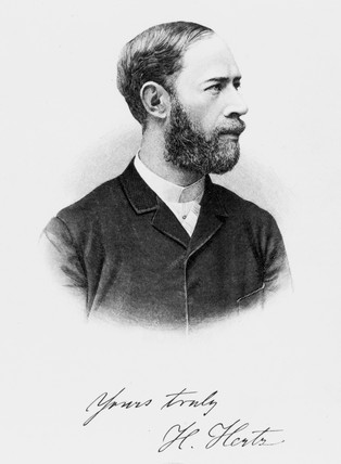 Heinrich Hertz, German physicist, 1894.