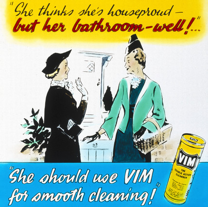 'Vim - for smooth cleaning', advertisement, c 1950s.