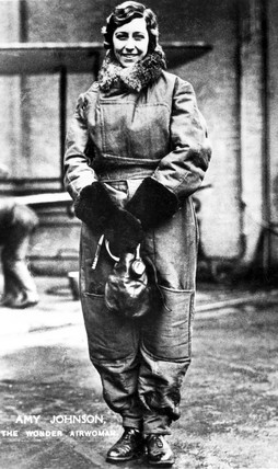 Amy Johnson, English aviator, c 1930.