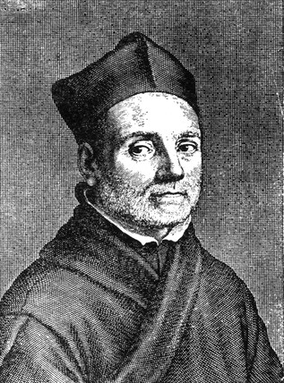 Athanasius Kircher, Italian magic lantern pioneer, mid 17th century.