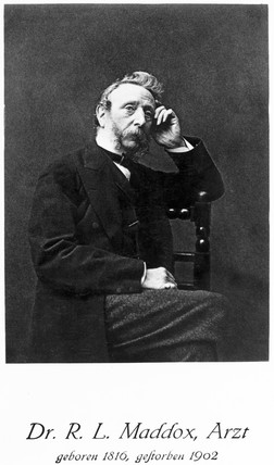 Richard Maddox, English physician and amateur photographer, c 1870s.