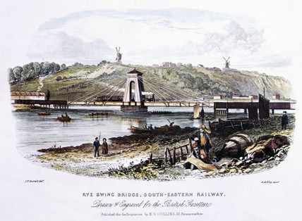 Rye Swing Bridge, South Eastern Railway, c 1855.