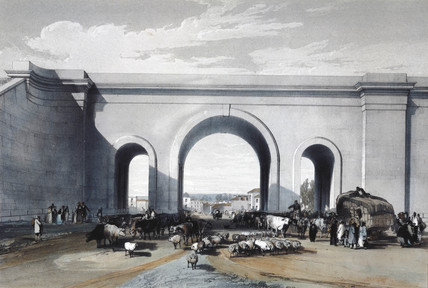 Railway bridge at Chippenham, Wiltshire, 1846.
