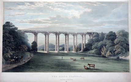 'The Slade Viaduct', Devon, 1848.