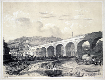 'Todmorden Viaduct and Bridge', West Yorkshire, 1845