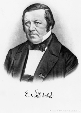 Eilhardt Mitscherlich, German chemist and mineralogist, mid 19th century.
