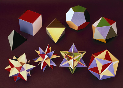 Regular polyhedra, c 1965.