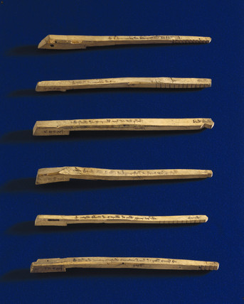 Tally Sticks, c 1440.