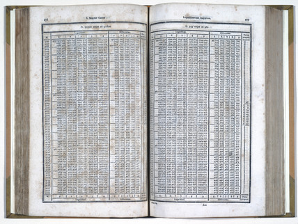 Book of Vega's mathematical tables, 1794.
