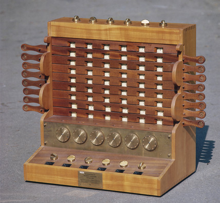 Schickard's calculating machine, c 1620.