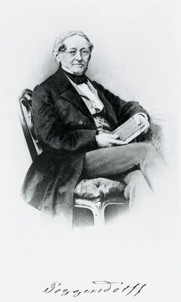 Johann Christian Poggendorf, German physicist, mid 19th century.