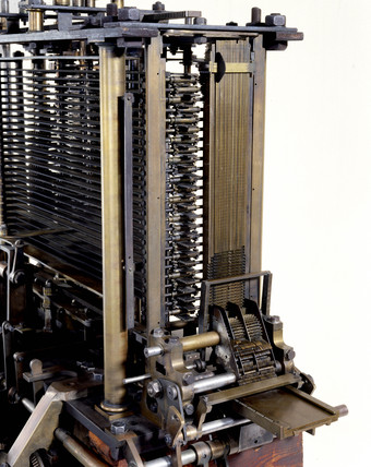The print mechanism of Babbage's Analytical Engine, 1834-1871.