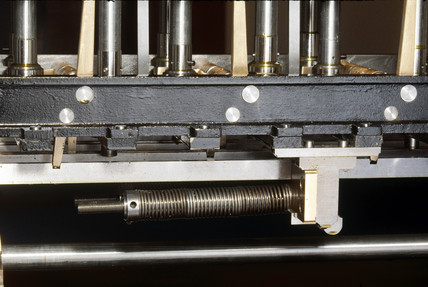 The lower part of Babbage's Difference Engine No 2, 1991.