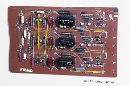 ATLAS circuit board, 1960s.