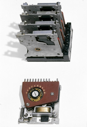 Components from the Harvard Mark I computer, 1937-1944.