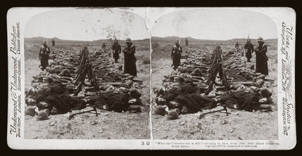 'When the Cannon's roar is still' soldiers sleeping, Colesberg, South Africa', 1900.