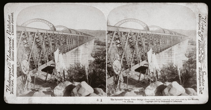 'The Orange River Bridge guarded by the British, South Africa', 1900