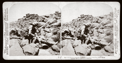 'The dying Bugler's last call - a battlefield incident, Gras Pan, South Africa', 1899.