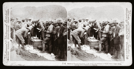 'Christmas Presents from home, Modder River, South Africa', 1899-1900.