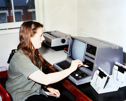 IT project - 'Project Fullemploy' - youth employment training in Clapham, 1975.