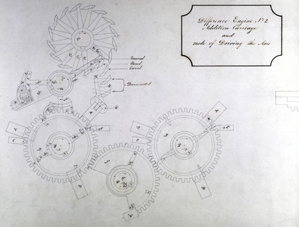 Design drawing of Difference Engine No 2, 1847.